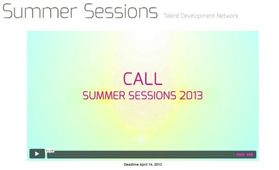 Summer Sessions 2013