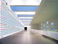 Código XML-SVG / Source code of the exhibition wall, LABoral Centro de Arte y Creación Industrial, Gijón, Spain, 2014