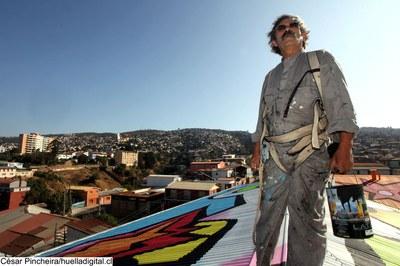 "LABoral holds a street art workshop given by the Chilean graffiti artist ""mono"" González"