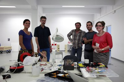Five artists work at LABoral on the production of the installations that will be on show at Traslaciones