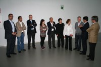 The management of Grupo EdP cultural Foundations visits LABoral