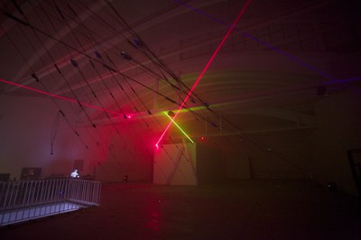 Chris Salter presents this Friday 'n-polytope', a large-installation of light and sound produced by LABoral