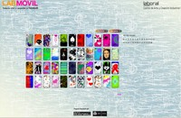 The web page for LABoral 's competition 'Tunea tu móvil' finalist in the Information Society Awards 2010