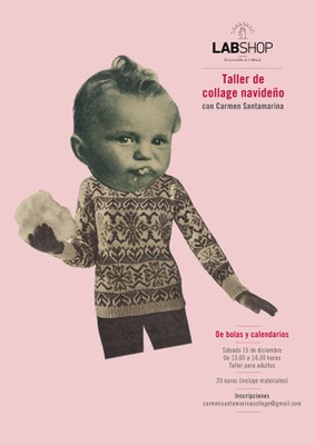 Taller de collage navideño