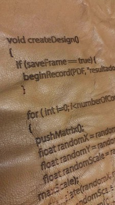Generación digital de patrones para estampados textiles en corte láser