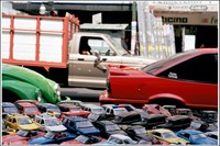 Mexico. Toy Cars on Street Stall (2006)