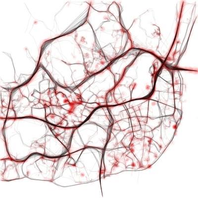 Visualización del tráfico en Lisboa (2010)