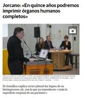 """El comercio digital. Jorcano: """"En quince años podremos imprimir órganos humanos completos"""""""