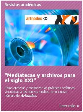El Simposio Mediatecas y Archivos para el siglo XXI, en la revista 'Artnodes'