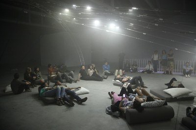 Una producción de LABoral, 'n-Polytope', de Chris Salter, premiada en VIDA 14.0