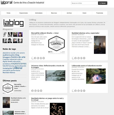 LABoral lanza un blog de bloggers para dar una nueva visión de su actividad