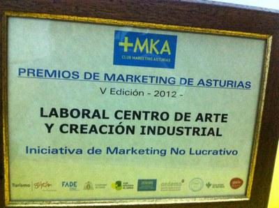 LABoral recibe el Premio a la Mejor Iniciativa de Marketing no Lucrativo por su campaña de comunicación del Quinto Aniversario